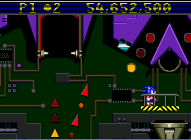 Sonic Spinball - Personal Best for Now, Also Stuk on This Lvl - User Screenshot